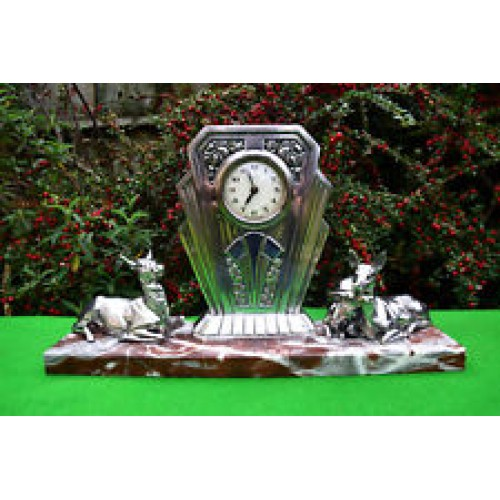 french orfevrerie dilecta depose mantel clock 1920@s